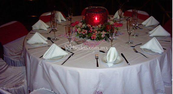 Preparación de las mesas