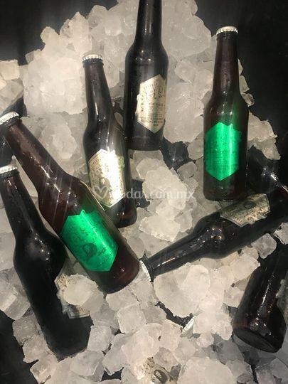 Equipo para enfriar botella