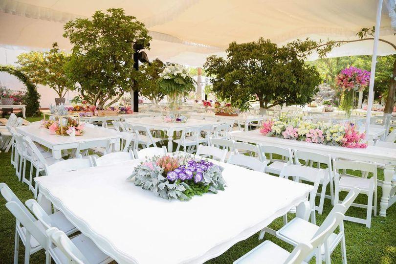 Decoración de boda de día