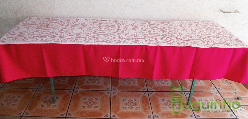 Mesa de madera tablón