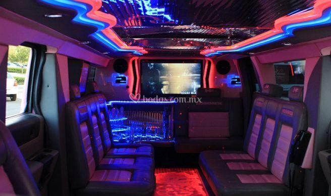 Interior de la limousina