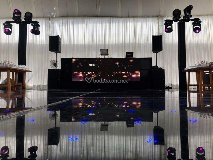 DJ Booth Pantalla LED