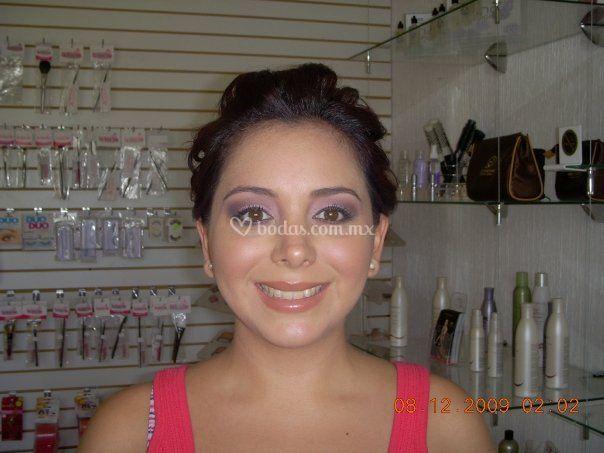 Novia maquillada