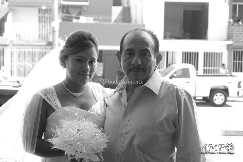 Novia y padre de la novia