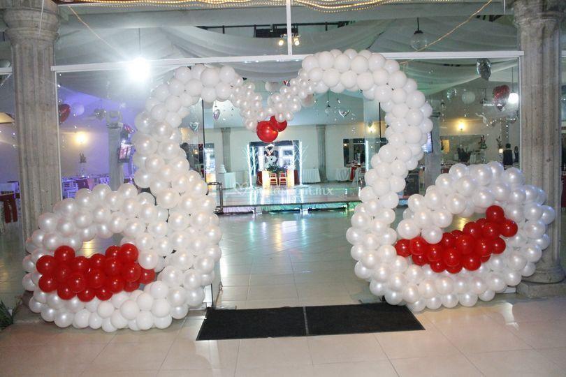 decoraci n de globos de los ngeles foto 15