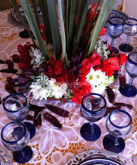 Decoración para la mesa