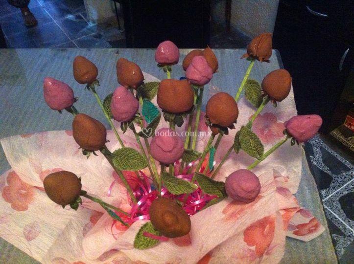 Arreglo de fresas-chocolate