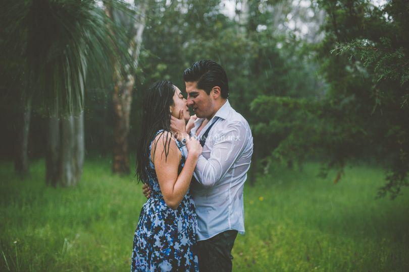 Engagement session en el bosque