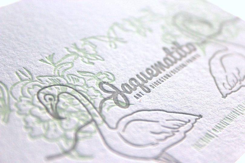 Tarjeta letterpress