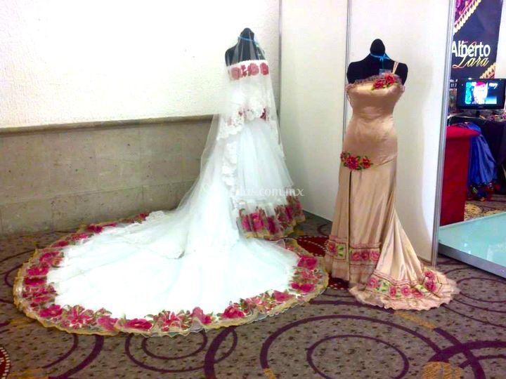 Vestido de graduación y novia
