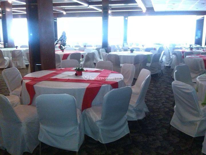Mesas salón libanés