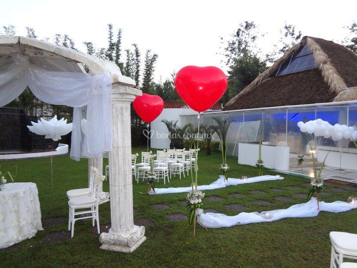globos boda en jardín de globo in   foto 6