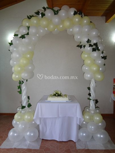 Globo in for Decoracion con globos bodas
