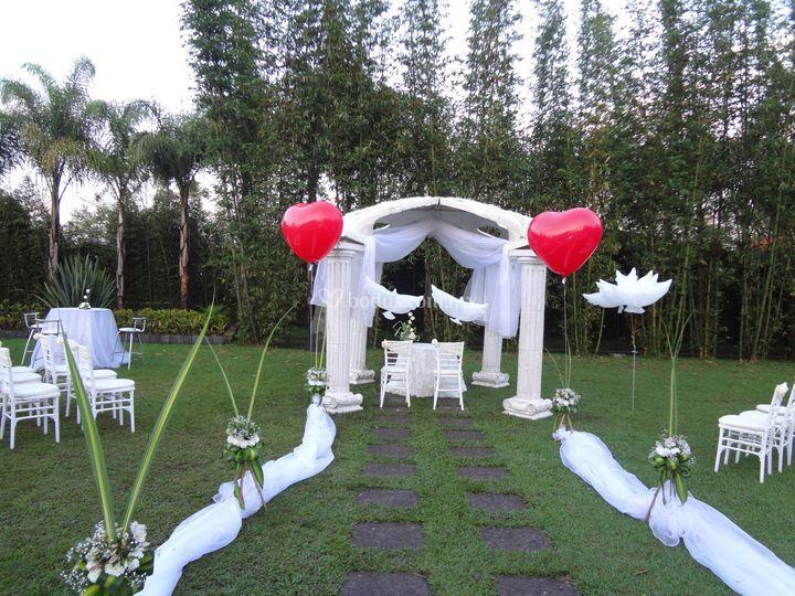 globos boda en jardín de globo in   foto 4