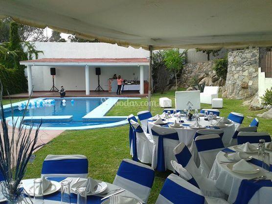 Terraza las ranas for Ranas decoracion jardin
