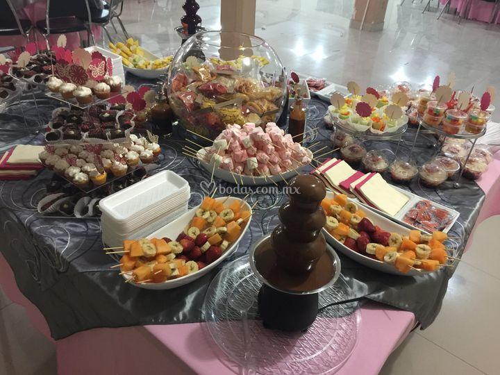Chcolate, dulce, fruta