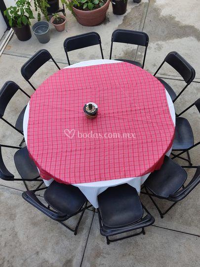 Juego de mesa redonda