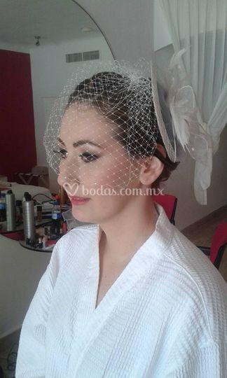 Novia maquillaje con aerografo