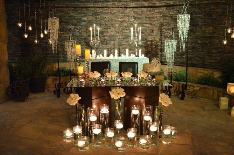 Mesa honor con velas