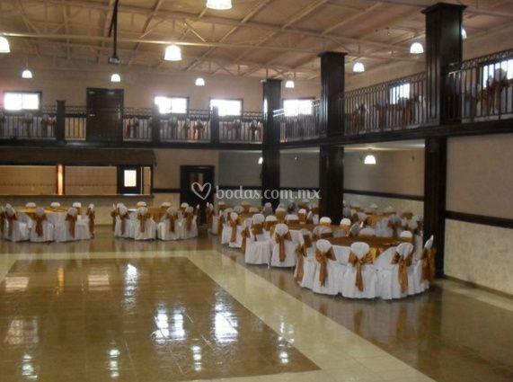 El salón para u evento