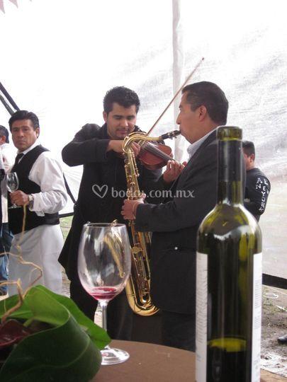 Sax y violín