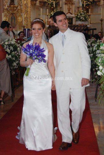 Ramo de novia en color