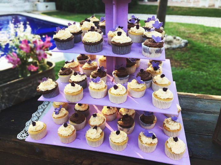 Cupcakes base morada