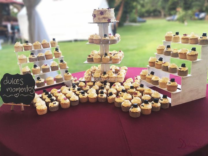 Mesa de cupcakes