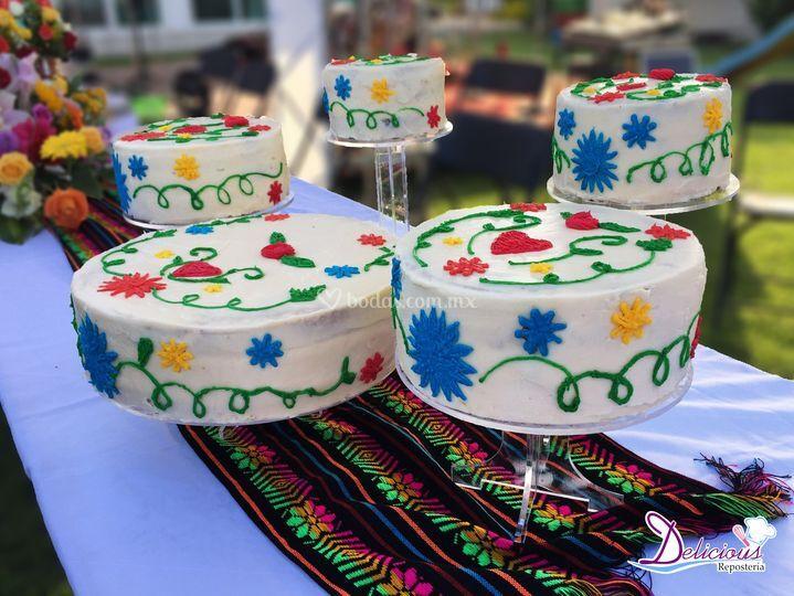 Pasteles diseño Mexicano