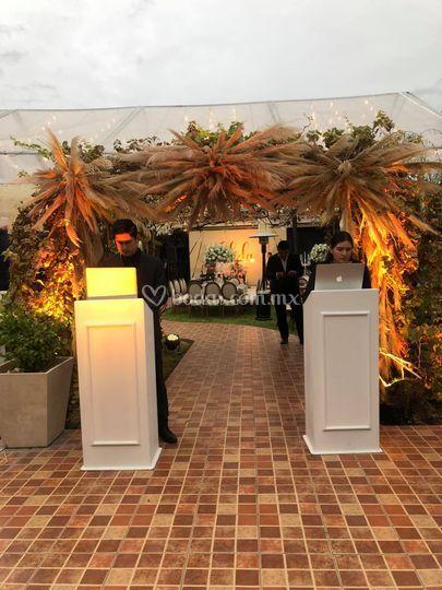 Evento jardín hacienda