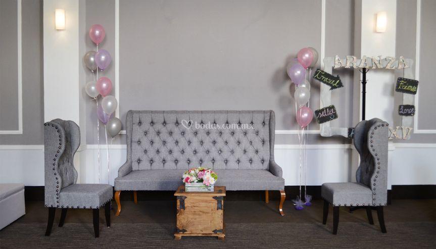 Sala Vintage en color gris