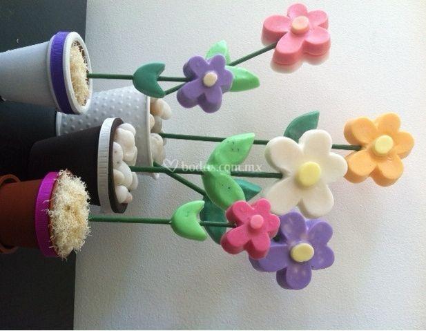 Macetitas de flores