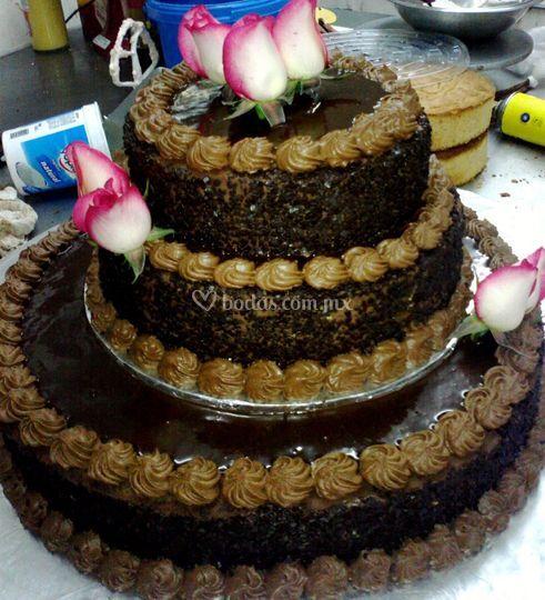 Pastel con chocolate