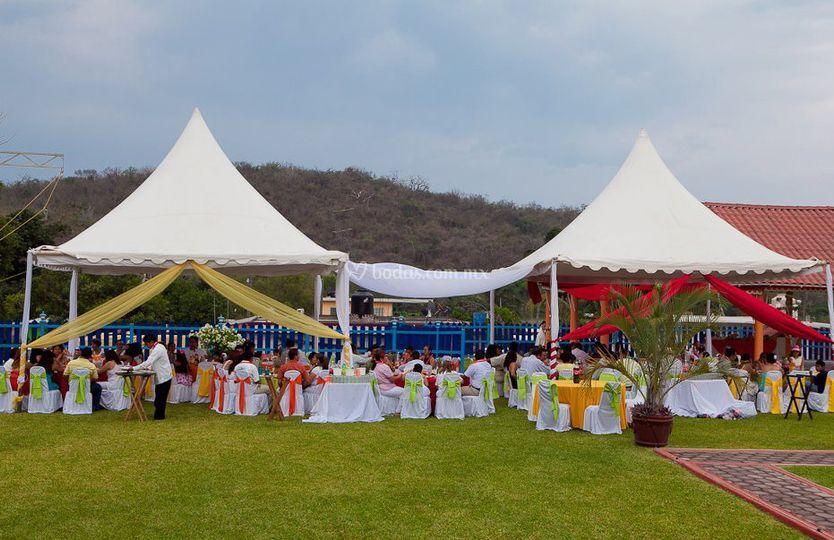 Para su boda al aire libre