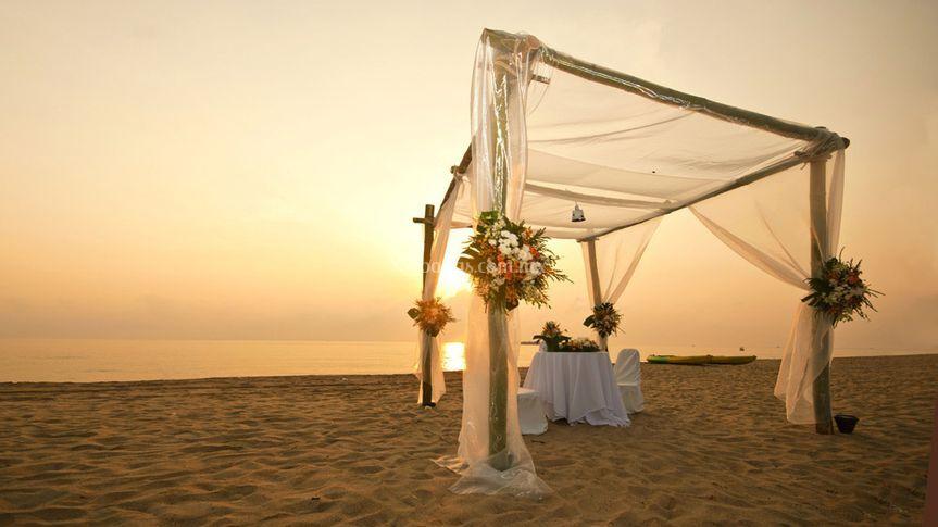 Paraíso en la playa de Loreto Bay
