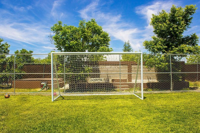 Portería juego fútbol
