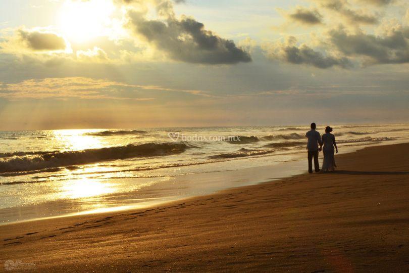 Preboda en la playa