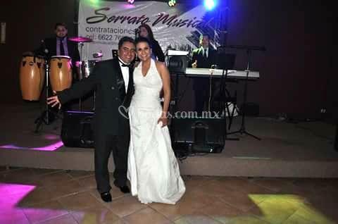 En plena boda
