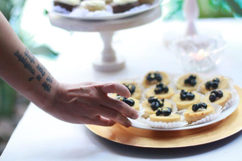 Cheesecake para mesa de postre