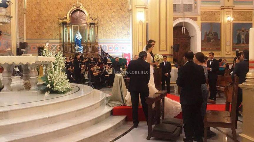 Coro y violines para ceremonia