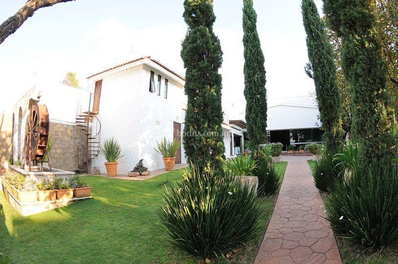 Área de jardín de El Molino Jardín