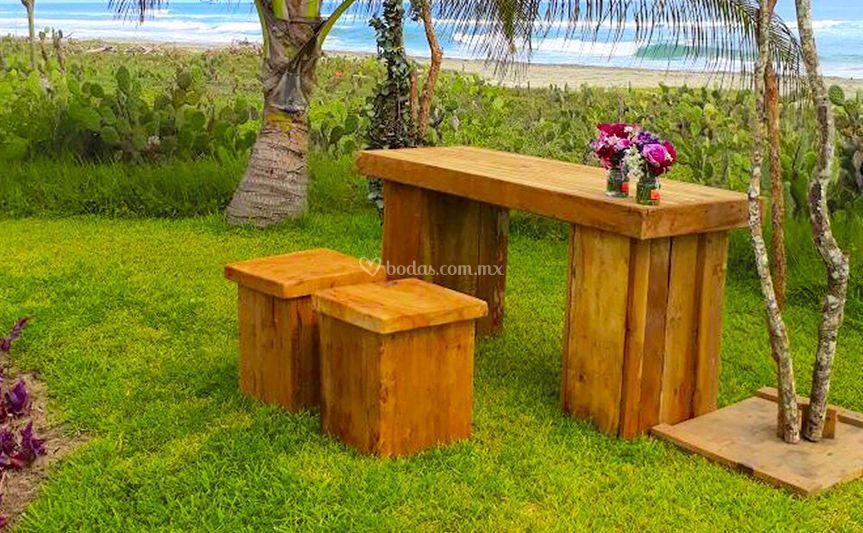 Mesa Vintage para dos personas