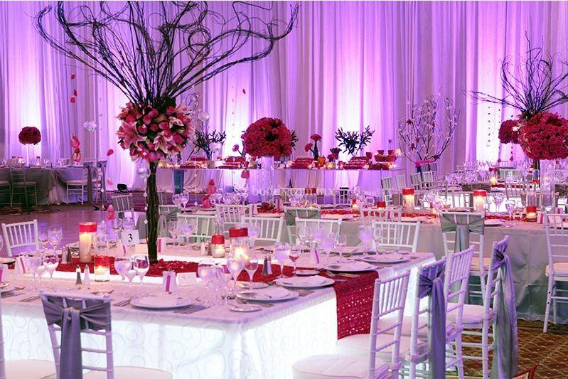 Recepción boda salón