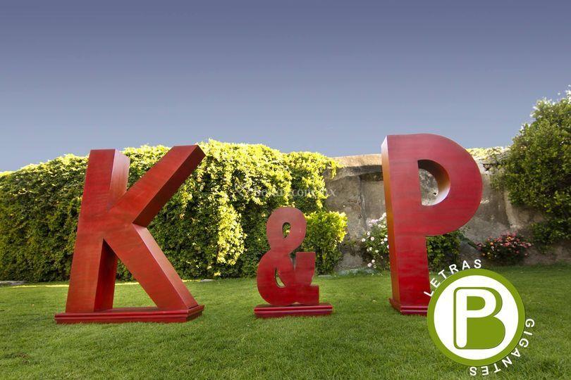 Letras gigantes BP