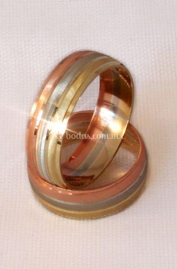 Argollas matrimoniales 3 oros