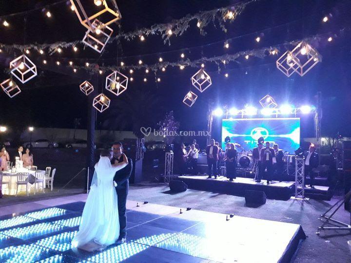 Escenario con pantalla led