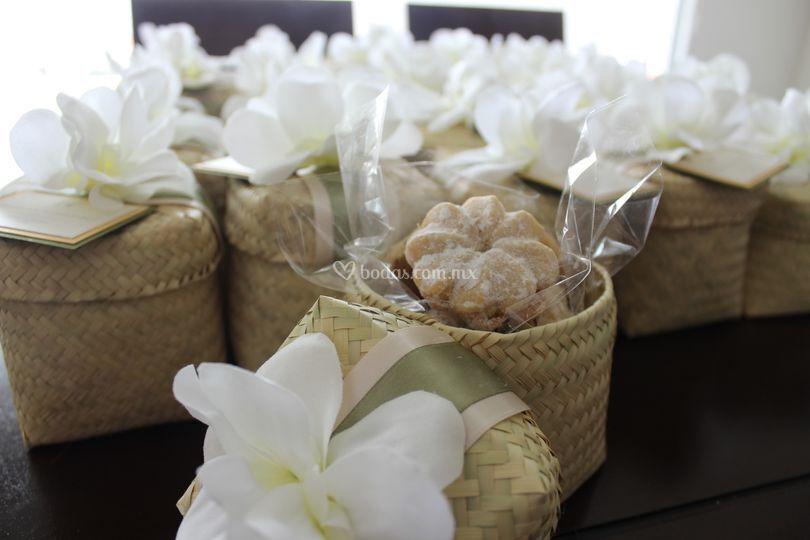 Detalles de galletas para boda
