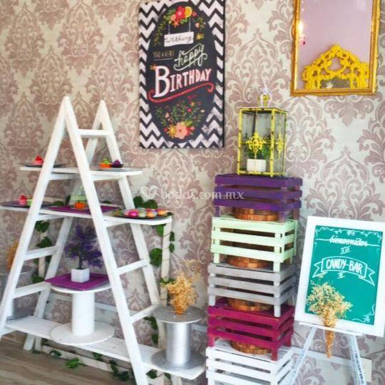 Mesa de dulces personalizada