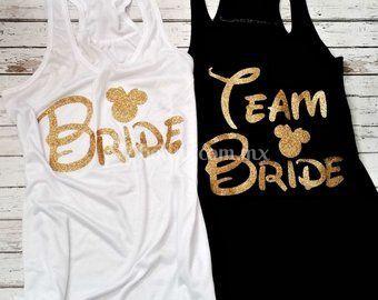 Playeras Team Bride Disney de RealC ProMarketing  1257c026946f7