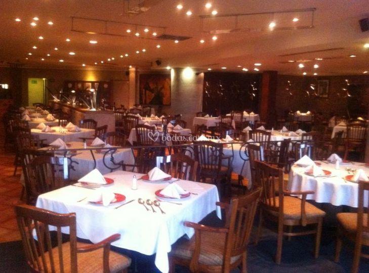 La sala del restaurante